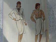 Vintage Vogue 8526 blouse jacket skirt Sewing Pattern size 12