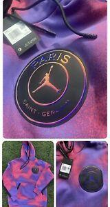 New XXL Men's Nike x Air Jordan x Paris Saint Germain Iridescent Hoodie $135