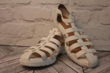 TOPSHOP White Strappy Faux Leather Sport Sandals Women Beach Holiday RRP £30
