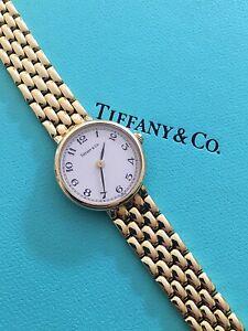 Ladies Tiffany & Co Solid 14K Yellow Gold Watch In original Box ~ Stunning 😍