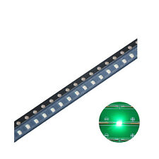 100pcs 12063216 Smd Led Diode Lights Green Super Bright Lighting Bulb