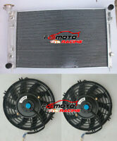 3 ROW Aluminum Radiator + 2*Fans for Holden Commodore VY 3.8L V6 2002-2004 03 MT