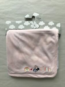 Disney Pink MINNIE MOUSE Soft Baby Blanket Throw Primark Girl Gift