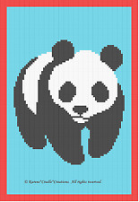 Crochet Patterns- Panda Bear Color Graph Afghan pattern