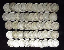 1917 S MERCURY DIMES GOOD G - FINE F FULL ROLL 50 SILVER COINS