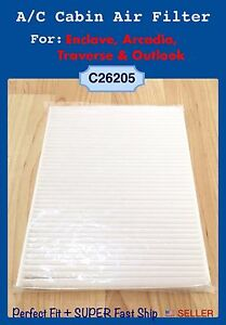 A/C Cabin Air Filter For 08-17 Enclave Traverse Acadia Outlook 26205 US Seller