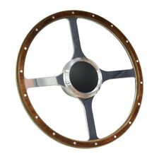 "Wood Boat Steering wheel with Adapter 3 spoke with 3/4"" tapered key Marine"