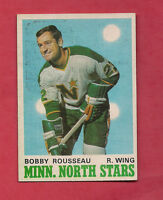 1970-71 OPC  # 170 NORTH STARS BOBBY ROUSSEAU  CARD