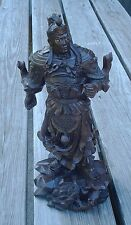 GuanGong Yu Warrior God Military Officer Statue Sculpture Hand Carved Wood 02527