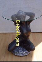 Tisch Frau Akt Glas Couchtisch Beistelltisch Dekoration Figur Skulptur Deko  F17