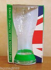 Coca Cola London 2012 Olympics Glass & Green Wristband Coke Boxed Unused VGC
