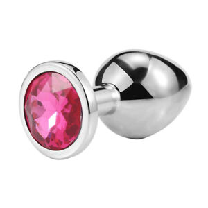 Butt Plug Anal Toy Colorful Jewel Metal Stainless S/M/L For Women Men Couples