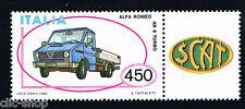 ITALIA UN FRANCOBOLLO MACCHINA ALFA ROMEO AR 8 TURBO AUTO APP. 1986 nuovo**
