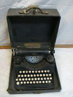 Vintage Underwood Portable 4 bank Typewriter with Case 1932 Steampunk