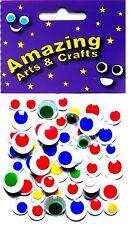 Ojos Auto Adhesivo Wiggle Craft Wiggly pelotas pegajoso Color 50 Asst Tamaños