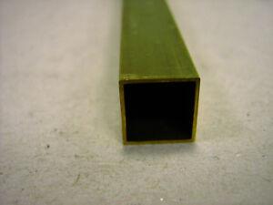 Messing Vierkantrohre MS63 Länge 330 mm