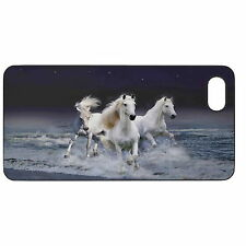 White Horses Hard Case Cover For Apple iPhone New