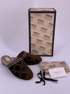 Neu Luxury Original GUCCI Slipper aus Velvet -512423 Große-36/UK-3/US-6  LP-€590