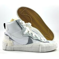 Nike Blazer Mid Sacai White Wolf Grey Gum Sole BV0072-100 Men's 4-11