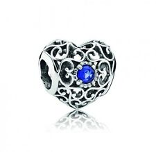 NEW! Authentic Pandora September Signature Heart Sapphire Charm #791784SSA $55