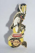 Hard Rock Cafe Pins -  Vintage HRC The Peak, Hongkong Black Dragon Yellow Guitar