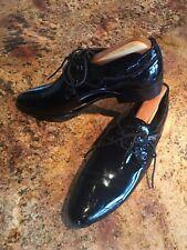 Men Black Latin Dance Shoes Ballroom Patent Leather Modern Tango Dance Shoes