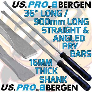 "US PRO Pry Bar 36"" Extra Long Straight & Angled Hammer Through Jemmy HEAVY DUTY"