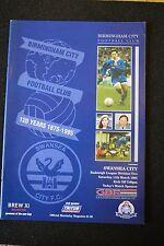 Birmingham City Vs Swansea City 11-03-95  Program (P166)