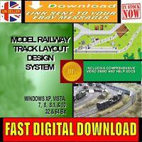 MODEL RAILWAY TRACK LAYOUT CAD DESIGNER SOFTWARE MULTI GAUGE DESIGN DOWNLOAD NEW