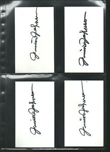 (1) JUNIOR JOHNSON AUTOGRAPH/AUTO/HAND-SIGNED INDEX CARD 3X5  D