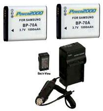 2 Batteries + Charger for Samsung EC-ST77ZZBPBGB EC-ST66ZZBPBE3 EC-ST66ZZFPPE3