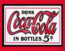 COCA COLA 5 cents - Vintage Ad - Flexible Fridge Magnet