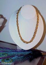 Vintage Signed Napier Pat 4,774,743 Heavy GoldTone Chain Link Necklace Statement