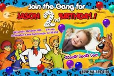 SCOOBY DOO BIRTHDAY PARTY INVITATION PHOTO CUSTOM 1ST first - 6 NEW DESIGNS !!