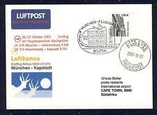 17919) LH FF München - Kapstadt 26.10.2003 So-Kte SP