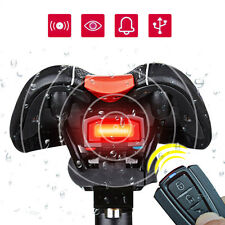 Bicycle 3 in 1 Alarm Wireless Rear LED Tail Light Lock Bike Remote Control Bell