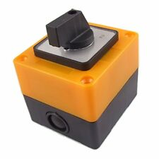 Schalter 3 Positionen Rotary LW28-20/ 3 500V 20A Schwarz + Gelb DE