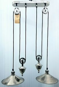 Victoria 2 Light Rise And Fall Ceiling Pendant Traditional Antique Silver Effect