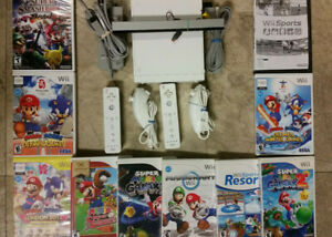 Wii system bundle Mario, Smash bros Brawl, Sonic, Sports, Kart, Galaxy