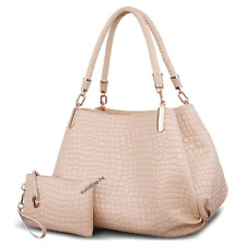 Damen Handtasche Tote Bag Hobo Bag Handtasche + Geldbeutel Farbe Beige