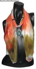 Chiffon Schal Halskette Damen Tuch Halstuch mit Anhänger Schmuck Accessoires