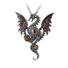 Alchemy Gothic altoforno Behemoth Dragon Steampunk Peltro Ciondolo di Swarovski