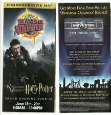 Wizarding World of Harry Potter Grand Opening Day Universal Park Map 2010
