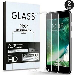 Case +Tempered Glass Screen Protector For Apple iPhone 8 7 6 6S Plus 5 SE 2020
