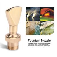 """1/2"""" DN15 & 3/4"""" DN20 Fountain Nozzle Sprinkler Water Spray Head Fan Shape Brass"""