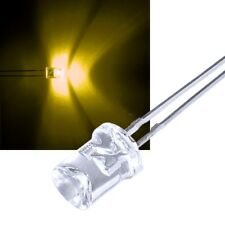 10 concave GELBE Leds 5mm / gelb yellow giallo geel jaune konkav Led konkave