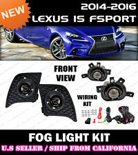 For LEXUS IS F-Sport 14 15 16 Fog Light Driving Lamp Kit w/Switch Wiring (CLEAR)