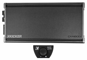 KICKER 46CXA18001 CXA1800.1 1800 Watt RMS Mono Car Audio Amplifier Amp+Bass Knob