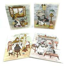 Little Susie Notes Greeting Cards Blank Envelopes Girl Bonnet Vintage Unused