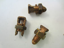 LOT OF 3  BURNDY KS26 2/0 COPPER SPLIT BOLT $4 EA- FREE SHIP